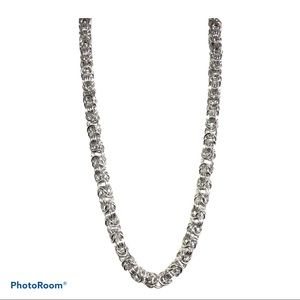 Turkish Stainless Necklace Silver Tone Rope Chain